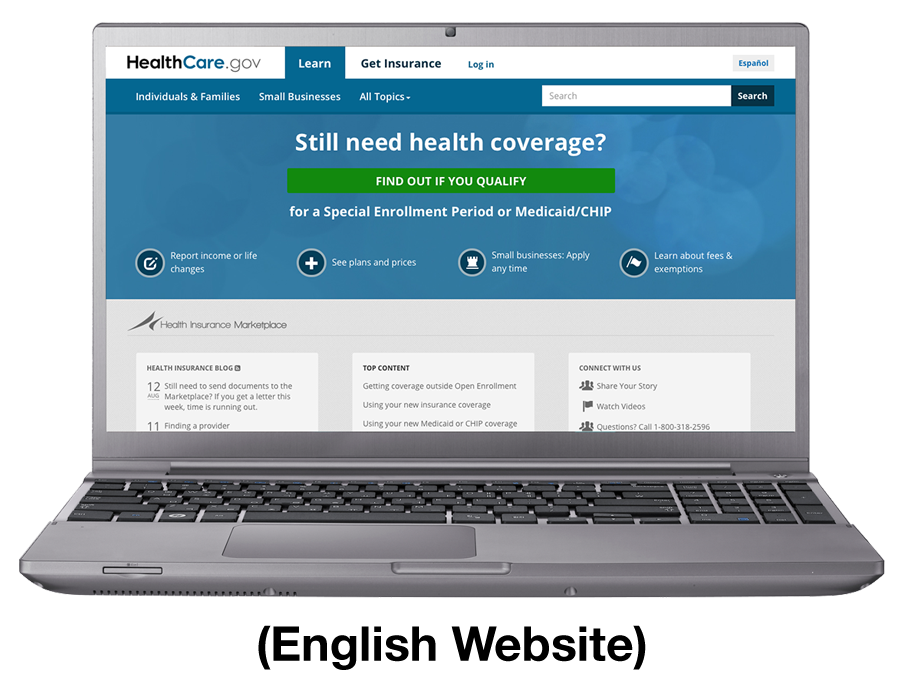 https://www.healthcare.gov English